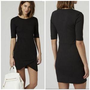 TOPSHOP PETITE asymmetric hem dress. Size